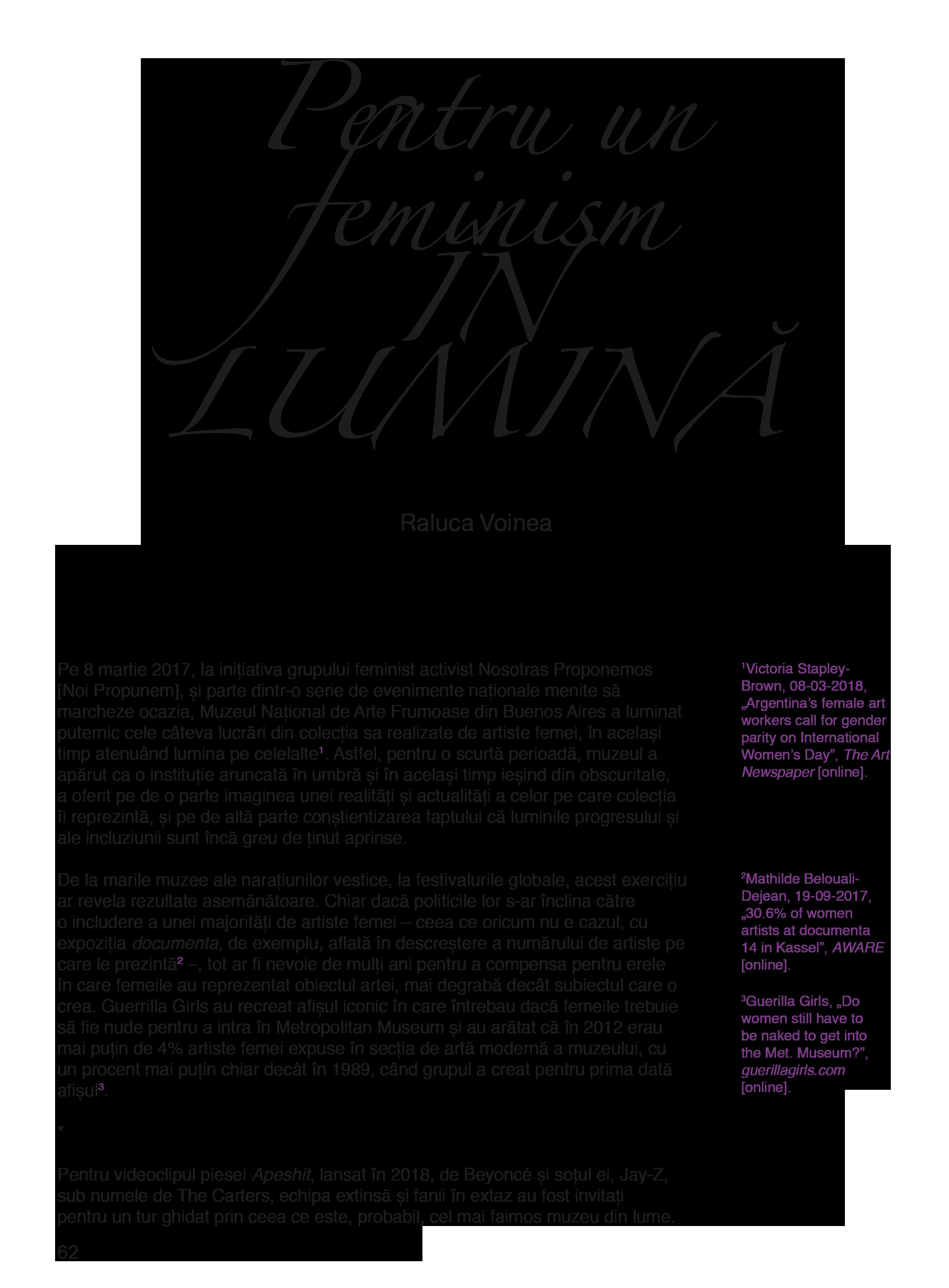continut revista feminista